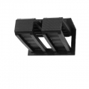 MINI LINEAR. Outer member with Flange for either surface mounting or concealing in component. Side View.